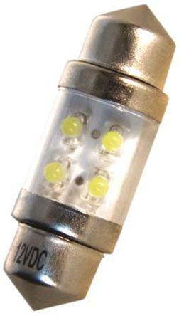 JKL Components - LE-1031-02W - JKL Components 白色光 尖浪形 LED 车灯 LE-1031-02W, 31 mm长 10.5mm直径, 12 V 直流 20 mA, 7.6 lm