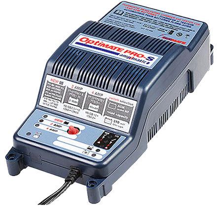 TecMate - TS170BS - TecMate TM 系列 铅酸电池充电器 TS170BS, 110 → 120 V ac, 220 → 240 V ac输入, 12 V, 24 V输出@4A, 英国插头