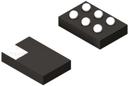 STMicroelectronics - CPL-WBF-00D3 - CPL-WBF-00D3, 698 → 2700MHz 射频定向耦合器, 33dB, 0.3dB, 6针 1.1 x 1.9 x 0.425mm