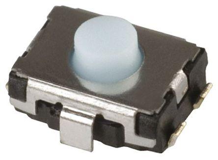 Panasonic - EVQP2B02B - Panasonic 蓝色 推入板 轻触式开关 EVQP2B02B, 单刀单掷 - 常开, 20 mA 2.5mm