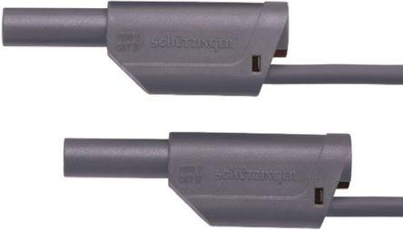 Schutzinger - VSFK 6000 / 2.5 / 50 / GR - Schutzinger VSFK 6000 / 2.5 / 50 / GR 灰色 测试引线, 32A额定电流, 1kV, 插头至公, 50cm长
