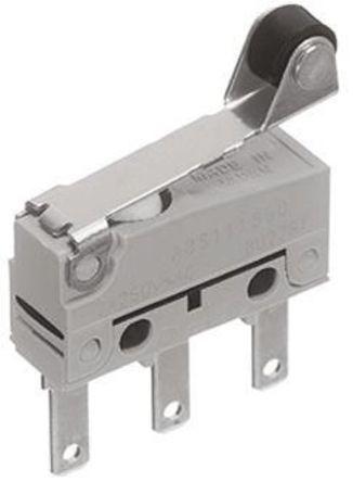 Panasonic - ABS111651 - Panasonic ABS111651 单刀双掷 滚轮杠杆 微动开关, 100 mA @ 30 V 直流