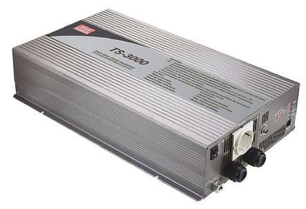 Mean Well - TS-3000-248-D - Mean Well 3000W 直流-交流汽车电源逆变器 TS-3000-248-D, 42 → 60V dc / 230V ac, 92%效能, 12.9kg重量, 466.8 x 283.5 x 100mm