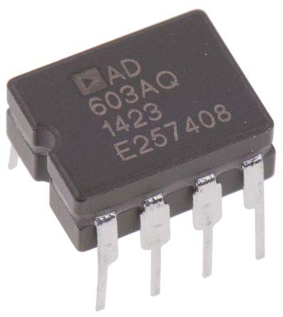Analog Devices - AD603AQ - Analog Devices AD603AQ 控制电压放大器, 8针 CDIP封装