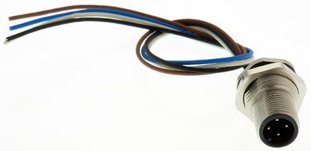 Binder - 09-3431-116-04 - Binder 763 系列 200mm长 4 芯 执行器/传感器电缆 09-3431-116-04