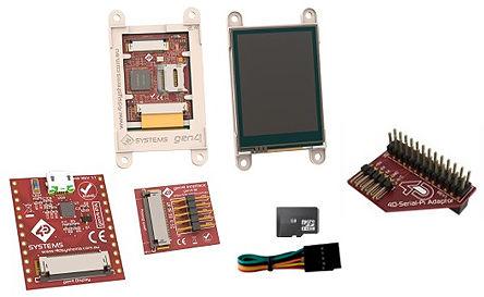 4D Systems - SK-gen4-28PT-PI - 4D Systems �D形�@示�_�l套件 SK-gen4-28PT-PI