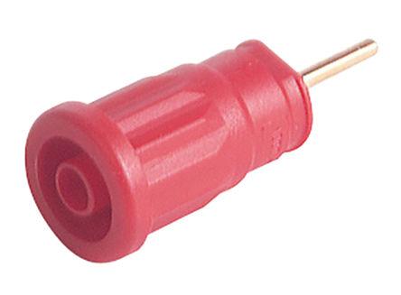 Hirschmann Test & Measurement - 972363101 - Hirschmann 972363101 红色 4mm 插座, 1000V ac/dc 24A, 镀金触点