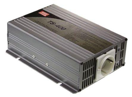 Mean Well - TS-400-248-D - Mean Well 400W 直流-交流汽车电源逆变器 TS-400-248-D, 42 → 60V dc / 230V ac, 88.5%效能, 1.73kg重量, 205 x 158 x 67mm