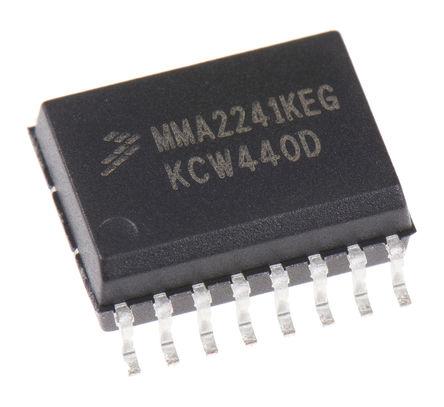 NXP - MMA2241KEG - NXP MMA2241KEG , 加速表, I2C接口, 360 → 440 Hz, 4.75 → 5.25 V电源, 16引脚 SOIC封装