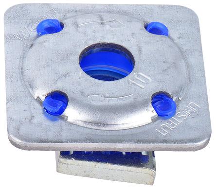Unistrut - 1391221 - Unistrut 镀锌钢 M12 x 41 mm 带槽螺母, 40 x 40mm螺母底座, 每件0.055g