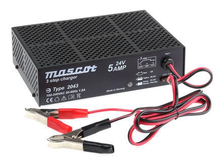 Mascot - 2043000043 - Mascot 开关模式电池充电器 2043000043, 3充电阶段, 90 → 264V ac输入, 24V输出@5A