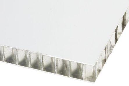 RS Pro - 69675 - RS Pro 铝板 69675, 1.2m长 x 1.2m宽 x 20mm厚, 适合于艺术天花板、阳台、建筑物表面包层、屋顶、遮蔽区