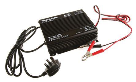 Mascot - 9740000054 - Mascot 开关模式电池充电器 9740000054, 3充电阶段, 190 → 264V ac输入, 24V输出@5A