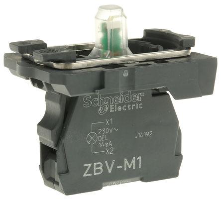 Schneider Electric - ZB5AVM1 - Schneider Electric XB5 系列 照明块 ZB5AVM1, 230 → 240 V 交流, 白色 LED, 螺钉接端