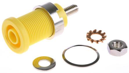 Schutzinger - SEB 6445 NI / GE - Schutzinger SEB 6445 NI / GE 黄色 4mm 插座, 1kV 32A, 镀镍触点