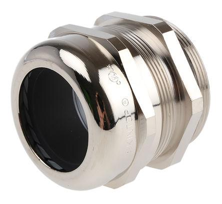 Lapp - 52103060+53112060 - Lapp SKINTOP MS 系列 IP55 镀镍黄铜 带锁紧螺母的电缆固定头 52103060+53112060, 27mm 至 35.0012mm电缆直径, -30°C至+100°C, M50螺纹