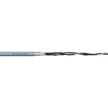Igus - CF140.07.25.UL - Igus 25 芯 18 AWG 屏蔽 灰色 聚氯乙烯 PVC护套 执行器/传感器电缆 CF140.07.25.UL, 17.5mm 外径
