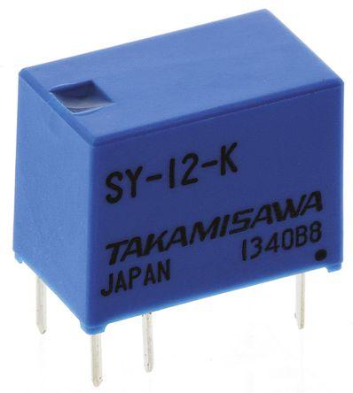 Fujitsu - SY-12-K - Fujitsu SY-12-K 单刀双掷 PCB 安装 非闭锁继电器, 12V