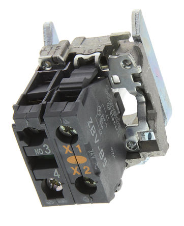 Schneider Electric - ZB4BW0B51 - Schneider Electric XB4 系列 接触块和照明块 ZB4BW0B51, 1 常开, 24 V 交流/直流, 黄色 LED, 螺钉接端