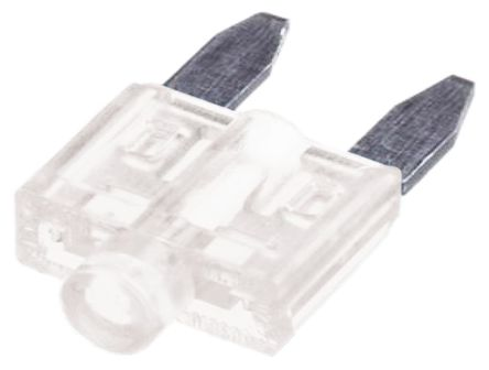 Littelfuse - 0CAM025.H - Littlefuse 25A 透明 车用插片式熔断器 0CAM025.H, 包含指示灯, 12V dc, 10.8mm x 3.6mm x 19mm