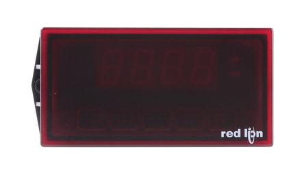 Red Lion - PAXLID00 - Red Lion 3.5位 LED 数字面板式电流表 PAXLID00, 测量直流电流, 91.4 x 44.5 mm, 0 → +60 °C