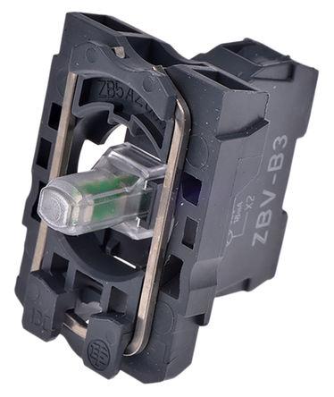 Schneider Electric - ZB5AVB3 - Schneider Electric XB5 系列 照明块 ZB5AVB3, 24 V 交流/直流, 绿色 LED, 螺钉接端