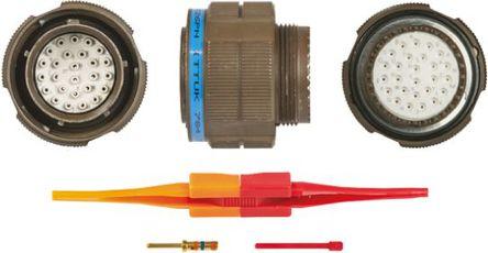 ITT - KJB6T17W26PN - ITT KJB 系列 26路 ��|安�b �B接器 螺�y 插�^ KJB6T17W26PN, 公�|芯, 外�こ叽�17, MIL-DTL-38999