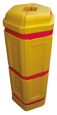 JSP - HMD020-00M-351 - JSP 黄色 柱保护器 PE 围栏和栏柱 HMD020-00M-351, 410mm深 x 1m高 x 440mm宽