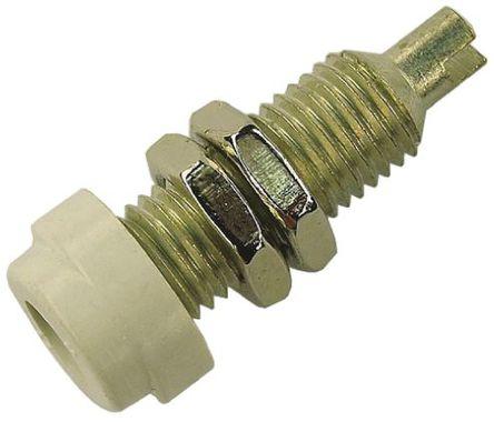 Hirschmann Test & Measurement - 930175107 - Hirschmann 930175107 白色 4mm 插座, 30 V ac, 60 V dc 16A, 镀锡触点