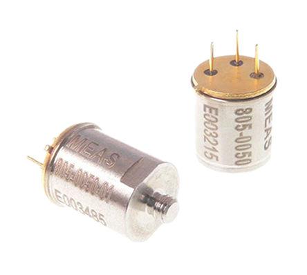 TE Connectivity - 805-0050-01 - TE Connectivity 805-0050-01 压电加速器, 2 线 IEPE接口, 0.3 → 10000 Hz, 18 → 30 V电源, 3引脚 TO-5封装