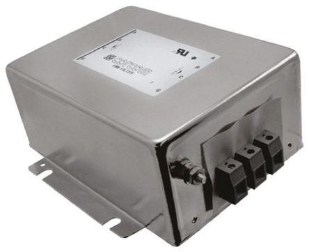 TE Connectivity - 16FCD10 - TE Connectivity 16FCD10 电源线过滤, 16 A, 480 V 交流, 182.9 x 139.2 x 64.8 mm