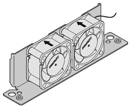 Schroff - 24828204 - Schroff 钢 风扇座,带风扇 24828204, 145 x 31 x 85.6mm, 使用于Interscale M 电子箱