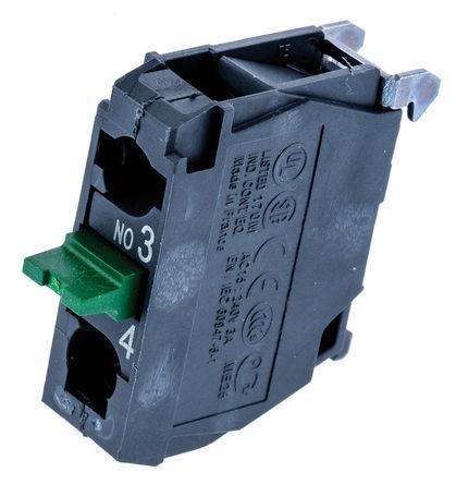 Schneider Electric - ZENL1111 - Schneider Electric XB4 XB5 系列 接触块 ZENL1111, 1 常开, 螺钉接端