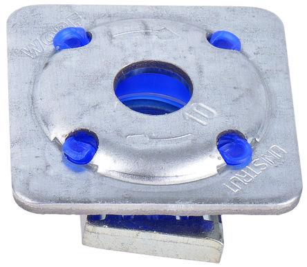 Unistrut - 1391021 - Unistrut 镀锌钢 M10 x 41 mm 带槽螺母, 40 x 40mm螺母底座, 每件0.058g
