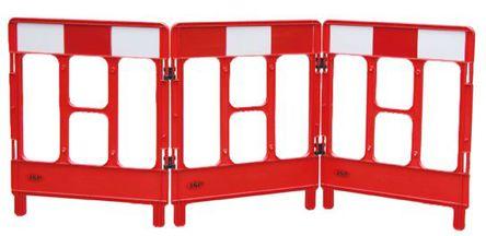 JSP - KBB023-000-651 - JSP 红色 栅系统 PP 围栏和栏柱 KBB023-000-651 x 1m高 x 2.52m宽