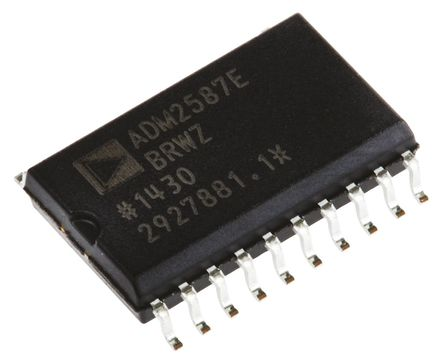 Analog Devices - ADM2587EBRWZ - Analog Devices ADM2587EBRWZ 500kbps 线路收发器, 差分接收器信号, 3.3 V、5 V单电源, 20引脚 SOIC W封装