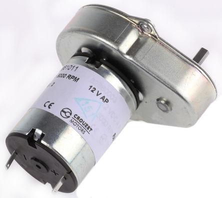 Crouzet - 82 861 011 - Crouzet 直流�X���与���C 82 861 011, �刷型, 12 V 直流, 0.5 Nm, 22 rpm, 3 W