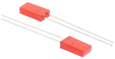 Kingbright - L-383SRDT - Kingbright Rectangular 系列 �t色 (640 nm 主波�L) LED L-383SRDT, 100 mcd, 110 °�角 矩形 通孔
