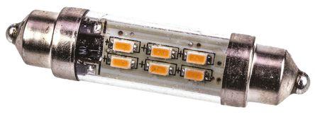 JKL Components - LE-0909-11WW - JKL Components 暖白色光 10.2(直径)x 43(高)mm 尖浪形 LED 车灯 LE-0909-11WW, 43 mm长 10.2mm直径, 12 V 交流/直流 42 mA, 36 lm