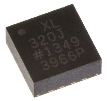 Analog Devices - ADXL320JCP - Analog Devices ADXL320JCP 2轴 加速表, 0.5 → 2.5 kHz, 2.4 → 5.25 V电源, 16引脚 LFCSP封装