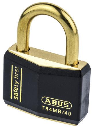 ABUS - T84MB/40 KA 8401 Black - Abus T84MB/40 KA 8401 Black 相同配匙 黑色 �S�~ 安全�戽i, 6.5mm �i�^