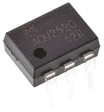 Panasonic - AQV252G - Panasonic 2.5 A PCB安装 单极常开 固态继电器 AQV252G, MOSFET输出, 60 V