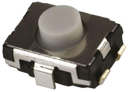 Panasonic - EVQP2K02Q - Panasonic 灰色 推入板 触觉开关 EVQP2K02Q, 单刀单掷 - 常开, 20 mA 2.5mm