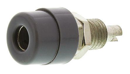 Hirschmann Test & Measurement - 930176106 - Hirschmann 930176106 灰色 4mm 插座, 30 V ac, 60 V dc 16A, 镀锡触点