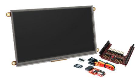 4D Systems - SK-70DT-AR - 4D Systems Diablo16 系列 7in TFT �|摸屏 �|摸屏�@示模�K, 800 x 480pixels 分辨率 WVGA, LED背光 串行 接口