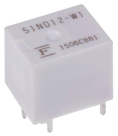 Fujitsu - FBR51ND12-W1 - Fujitsu FBR51ND12-W1 单刀双掷 PCB 安装 非闭锁继电器, 12V