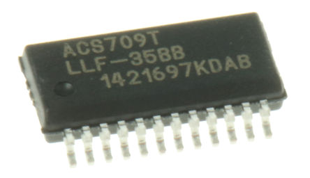 Allegro Microsystems - ACS709LLFTR-35BB-T - Allegro Microsystems ACS709LLFTR-35BB-T, 霍尔效应传感器 单极, 3 → 5.5 V, 24针 QSOP封装
