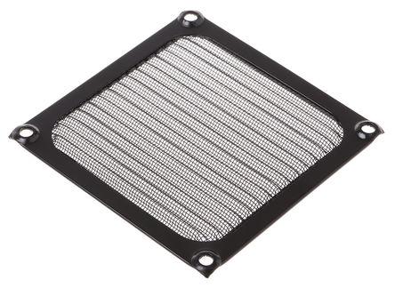 RS Pro - WMG92B - RS Pro 铝、不锈钢制 扇形过滤器 WMG92B, 4.5mm厚, 用于92mm风扇
