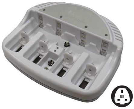 Ansmann - 5207303/UK - Ansmann 5207303/UK 2 (9V)/4 (AA)/4 (AAA)/4 (C)/4 (D) Basic 5 Plus 镍镉/镍氢电池 电池充电器, 英国插头