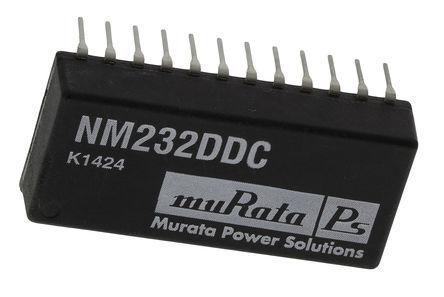 Murata Power Solutions - NM232DD - Murata Power Solutions NM232DD 9.6kbps 线路收发器, EIA-232-D/ RS-232接口, 2-TX 2-RX, 5 V单电源, 24引脚 PDIP封装